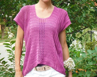 Crochet Top Sweater Pattern: The Shirttail Top Pattern