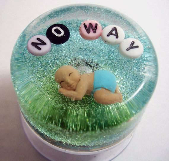 Waterproof Art for your Shower: No Way Baby