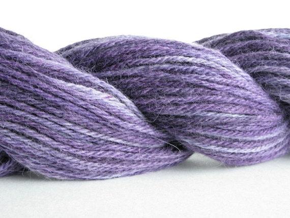 Purple Haze - Bunny Sock Yarn - Angora Rabbit Superwash Merino Wool -  2 oz. Fingering or Sock Weight