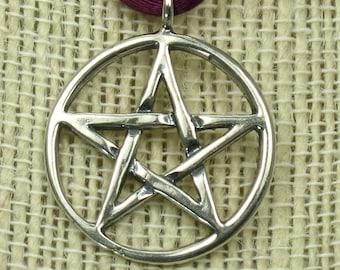 Large Pentagram, solid Sterling Silver,