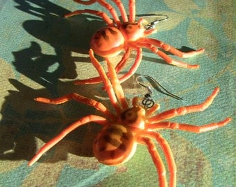 giant spider earrings