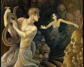 Orpheus and Eurydice Greek Mythology 5x7 Greeting Card