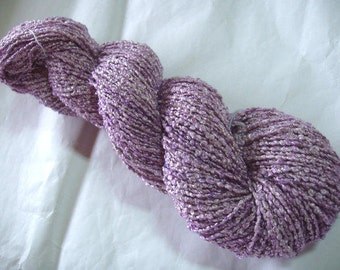 FLIEDER - mulberry silk boucle yarn, handpainted, hand dyed, 4oz/200yds