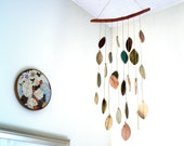 Stoneware Ceramic Leaf Chimes Mobile, Made to Order