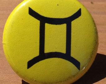Gemini Zodiac Astrology Sign - Button, Magnet, or Bottle Opener