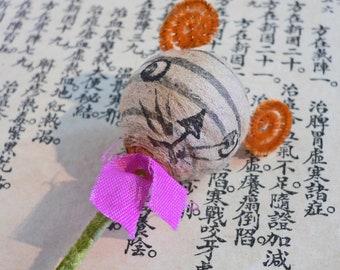 1pc SPUN COTTON TIGER Head Vintage Japan