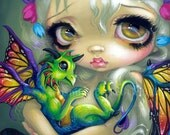 Darling Dragonling IV baby dragon fairy art print by Jasmine Becket-Griffith 8x10