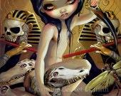 Priestess of Nyarlathotep lovecraft egyptian fairy art print by Jasmine Becket-Griffith 8x10