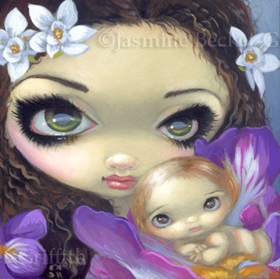 Items Similar To Faces Of Faery 160 Baby Flowers Angel Big