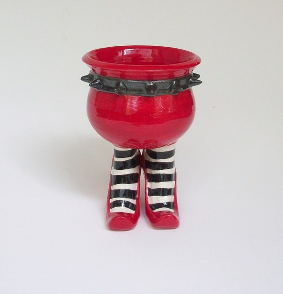Bad Ass Sex Pot with Heels and Striped Stockings