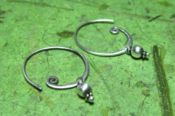 Furl - Sterling Silver Earrings