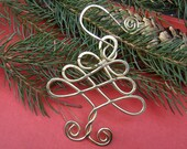 Celtic Tree Christmas Ornament - Holiday Ornament - Home and Living - Home Decor - Brass Wire - Handmade Gift - Christmas Tree Ornament