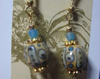 Retro Glass Bead Earrings