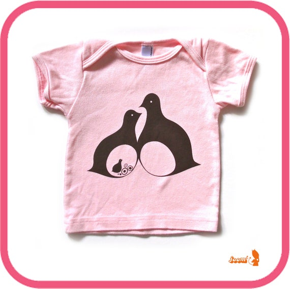 Light Pink Birdies Baby T Shirt