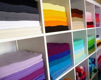 "10 x 12"" squares of Premium Wool Blend Felt you choose from 45 colours of felt"