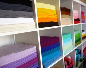 "50 x 12"" squares of Premium Wool Blend Felt you choose from 45 colours of felt"