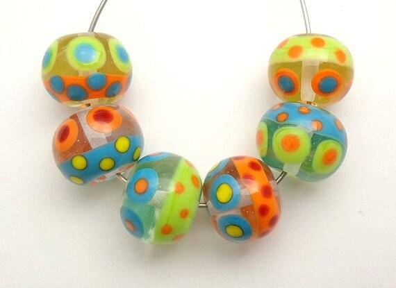 Colorful Fun Summer Artisan Handmade Lampwork Glass Beads SRA