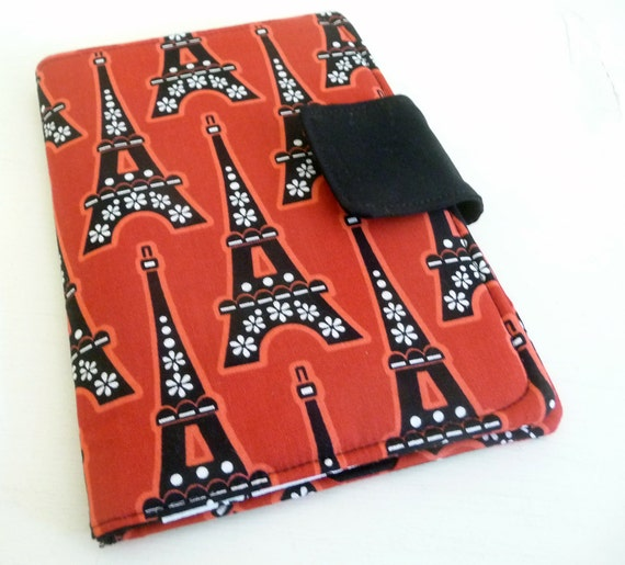 Eiffel Tower Cover, Case Fits Kindle 4 or 5 and Kobo Touch