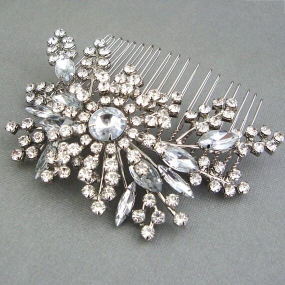 Wedding Hair Comb, Vintage Style Bridal Hair Comb, Crystal Hair Comb, Bridal Wedding Hair Accessories, Art Deco Wedding Hairpiece, STARGAZER