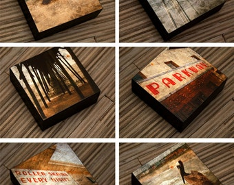 """Gift for Dad- Gifts for Him- Husband Gift- Rovinato Series 4"""" x 4"""" Art Box- Pick the Print- Small Gift for Friend- Kid Decor"""