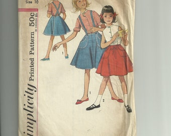 Vintage Simplicity Girls' Blouse and Wrap Around Skirt Pattern 4961