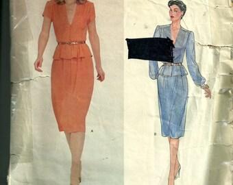 Vintage Vogue Albert Nipon Misses' Top and Skirt Pattern 2361