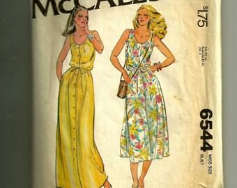 Vintage McCall's Misses' Dress Pattern 6544