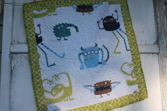 Monster Baby Quilt- Stroller Quilt
