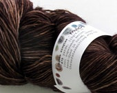 mulch - aquae singles, fingering weight sock yarn (dyed to order)