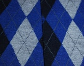Baby Leg Warmers and Toddler Leg Warmers  - free shipping - blue black and grey diamond argyle