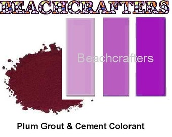 PLUM PURPLE  Colorant for Grout or Cement -3 OZ, great to use with my mosaic tiles