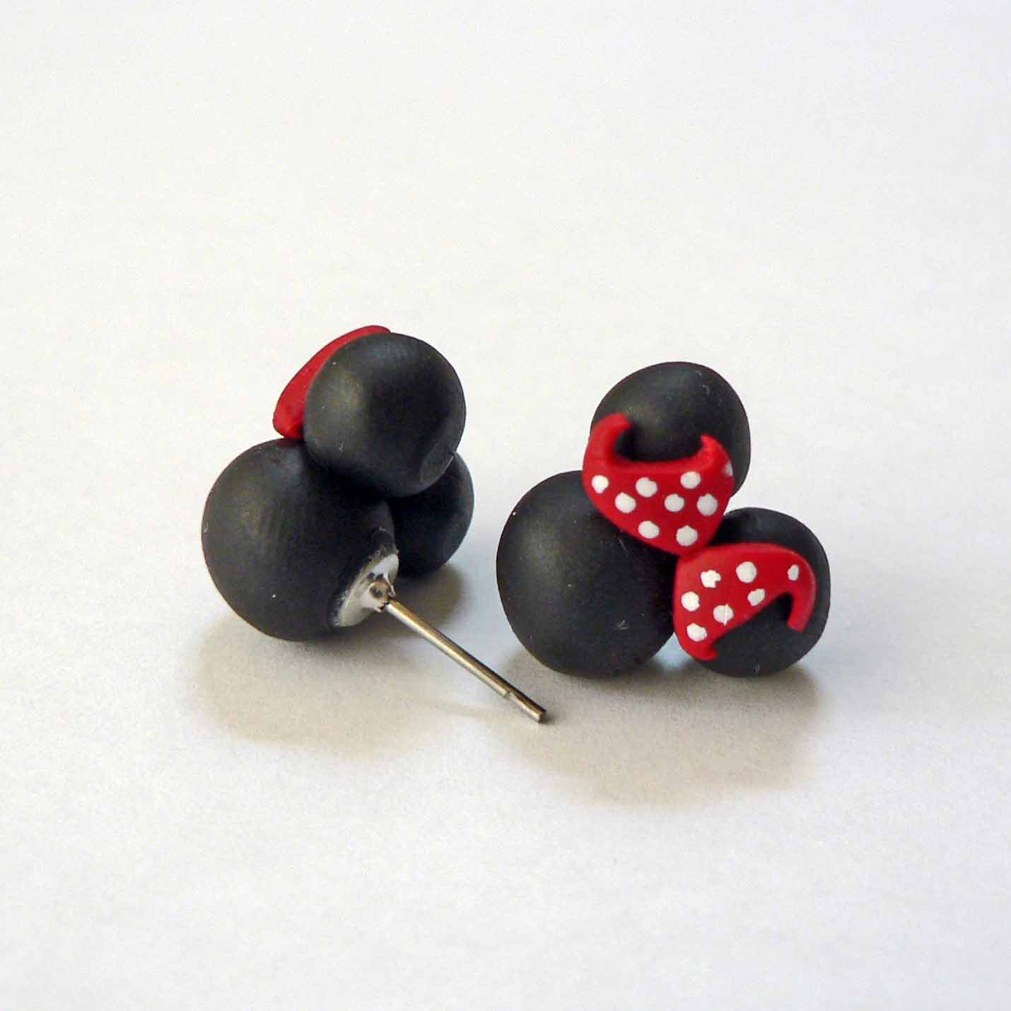 minnie mouse inspired earrings hypoallergenic by