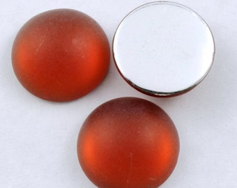 18mm Smooth Frosted Terracotta Cabochon (10 Pcs) #284