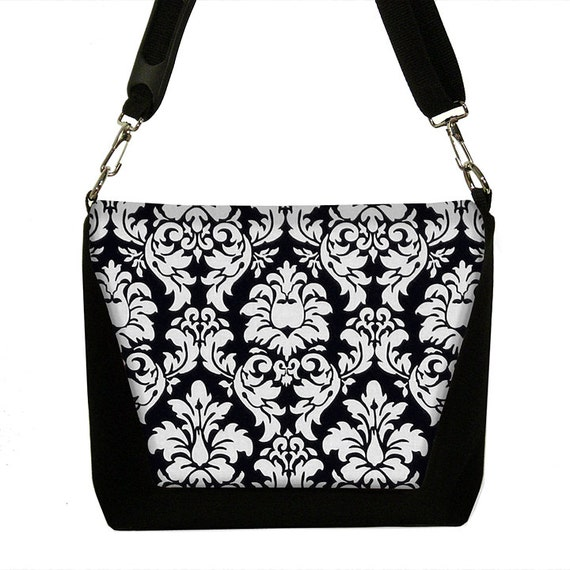 SALE  Slr Camera Bag Dslr Camera Bag Purse Womens Camera Bag Case Damask black white (RTS)
