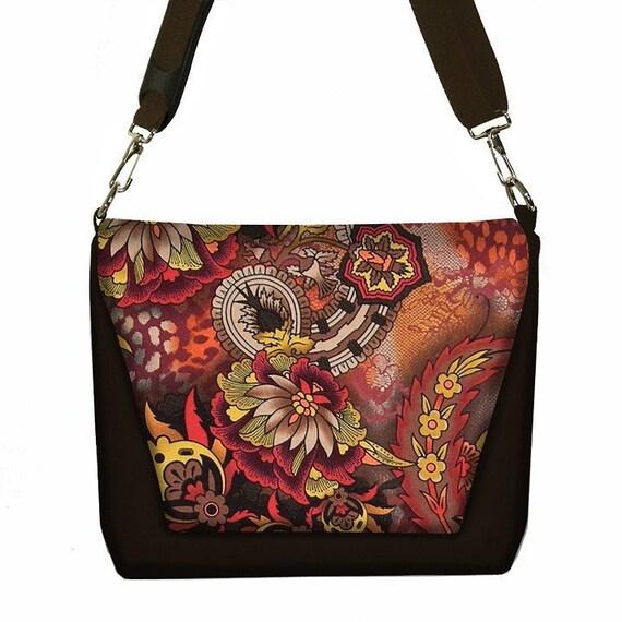 Digital SLR Camera Bag DSLR Camera Bag Purse Womens Camera Bag Case  - Edgy Paisley Rust - In Stock