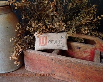 Primitive H Is For Harvest Pinkeep Cross Stitch E Pattern PDF