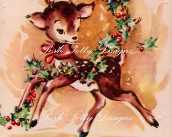 The Cutest Christmas Doe Greetings Card Digital Download Printable Images (321)