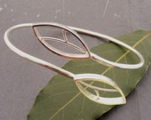 Double Abstract Leaf Sterling Silver Bangle