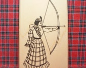 Victorian Scottish Archer Lady Rubber Stamp New Item