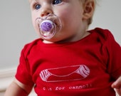 C is for Cannoli Baby One-Piece Bodysuit   (Red) - Italian, Italy