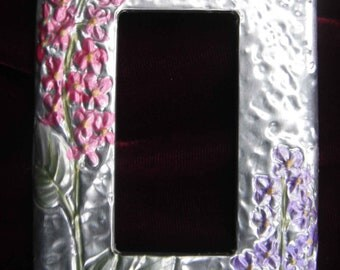 Silver Lilac GFI/Rocker switch plate