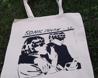 Sonic Youth tote bag-Handpainted-For every day use
