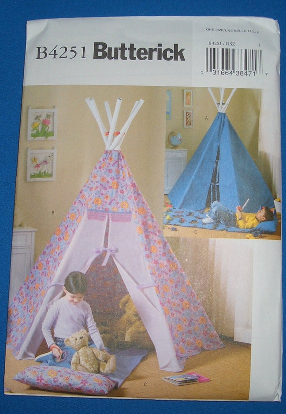 butterick patterns b4251 teepee and mat one size
