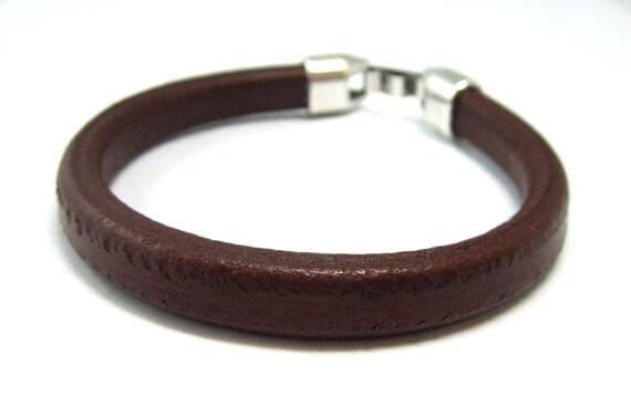 Mens Brown Leather Cord Bracelet.
