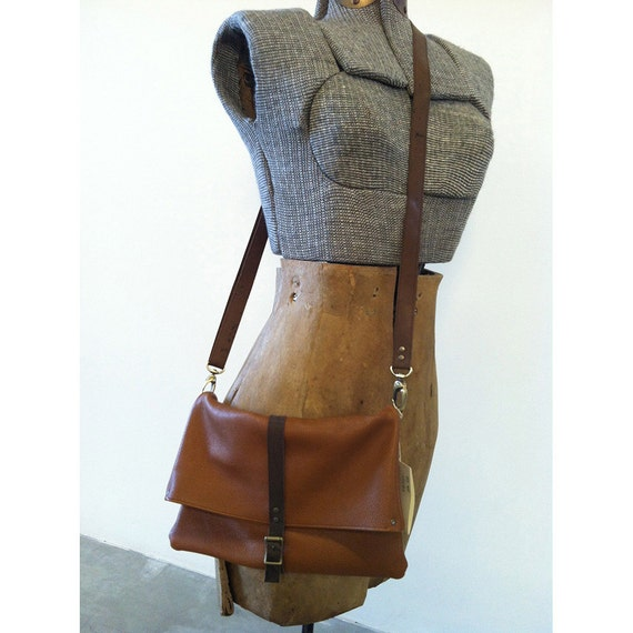 leather foldover crossbody purse - RESERVED FOR MORGAN