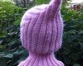 Knit Child Balaclava Hoodie Hat - ROSIE, Waldorf inspired, 2 weeks lead time