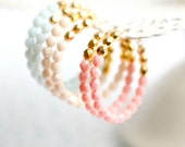 Pastel and Gold Beaded Hoops - NestPrettyThingsShop