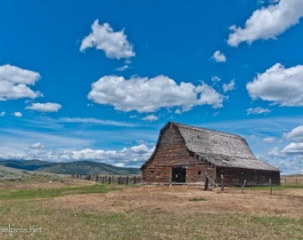 Old Montana Barn, Old Building, Hot Springs Barn, Once Upon a Time, Photograph or Greeting card