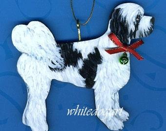 Custom Puppy Cut Tibetan Terrier Christmas Ornament