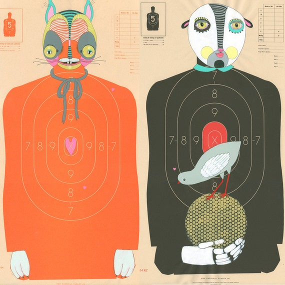 RESERVED- Custom Hand-Painted Paper Shooting Targets